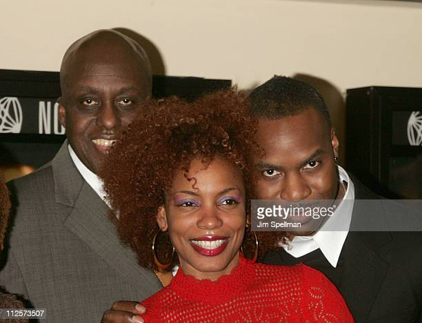 "Director Bill Duke and Actors Aunjanue Ellis and Raz Adoti arrive at the ""Cover"" Premiere at the Village East Theater on February 18, 2008 in New..."