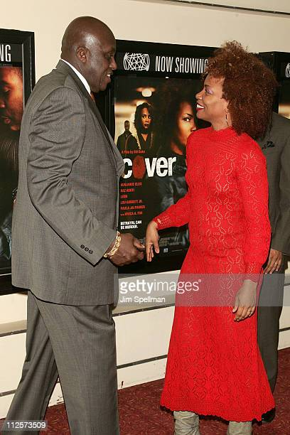 "Director Bill Duke and Actress Aunjanue Ellis arrive at the ""Cover"" Premiere at the Village East Theater on February 18, 2008 in New York City."