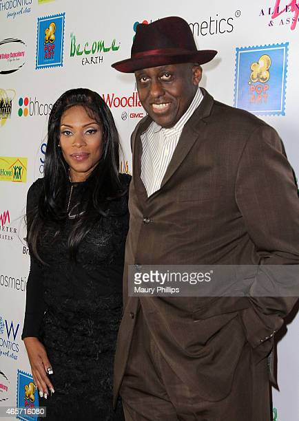 Director Bill Duke and Onyxx Monopoly attend a Black History Month Dinner Party When Africa Met France at The Renaissance Restaurant on February 28...