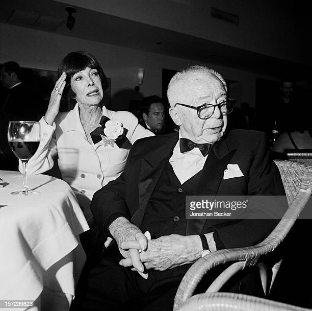 Director Billy Wilder and wife Audrey Young Wilder are photographed for Vanity Fair Magazine on March 21, 1999 at the Vanity Fair Oscar Party at...