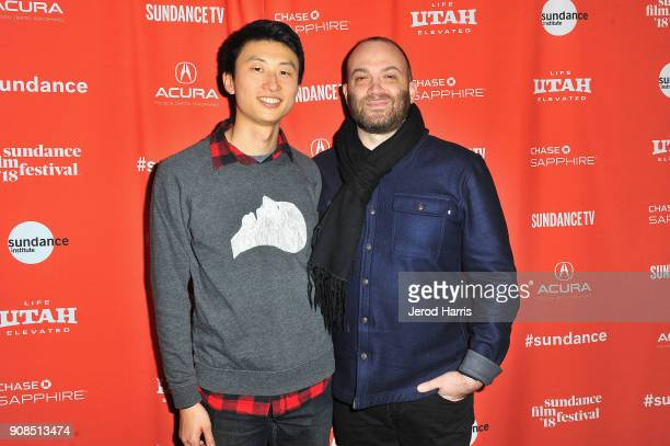 Director Bing Liu and composer Nathan Halpern attends the Minding The Gap Premiere during the 2018 Sundance Film Festival at Egyptian Theatre on...