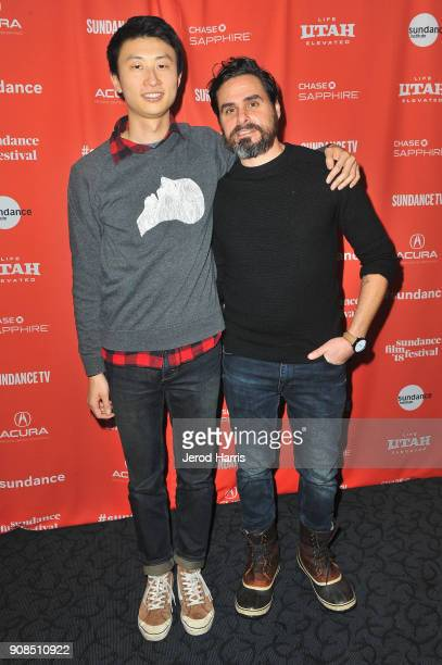 Director Bing Liu and editor Joshua Altman attend the Minding The Gap Premiere during the 2018 Sundance Film Festival at Egyptian Theatre on January...