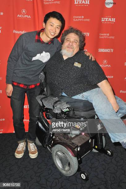 Director Bing Liu and sound mixer James LeBrecht attend the Minding The Gap Premiere during the 2018 Sundance Film Festival at Egyptian Theatre on...