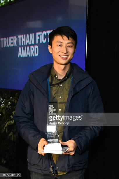 Director Bing Liu attends the 2019 Film Independent Spirit Awards nominee brunch at BOA Steakhouse on January 5 2019 in West Hollywood California
