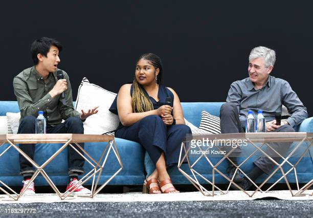 Director Bing Liu Jada Buford and Executive Producer/Director Steve James speak onstage at the 'America To Me' Panel during Starz FYC 2019 — Where...