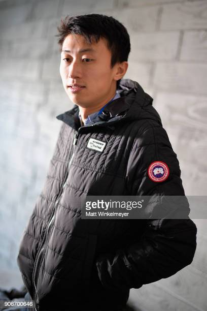 Director Bing Liu visits the Canada Goose Director Suite during the 2018 Sundance Film Festival at Park City Marriott on January 18 2018 in Park City...