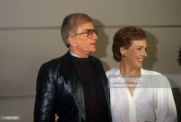 Director Blake Edwards and wife actress Julie Andrews pose for a portrait in circa 1985 in Los Angeles California