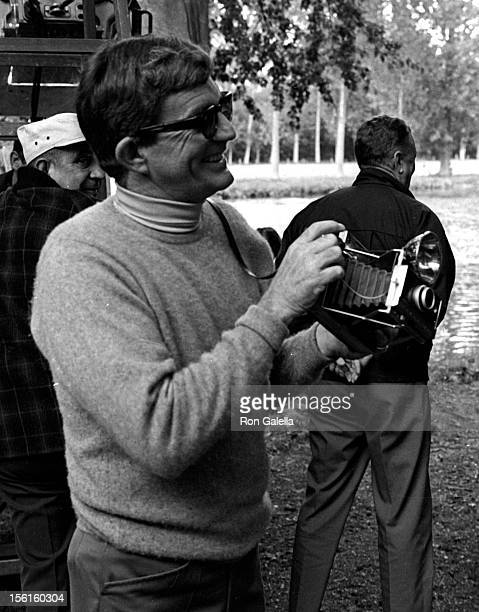 Director Blake Edwards sighted on location filming 'Darling Lili' on September 27 1968 in Paris France