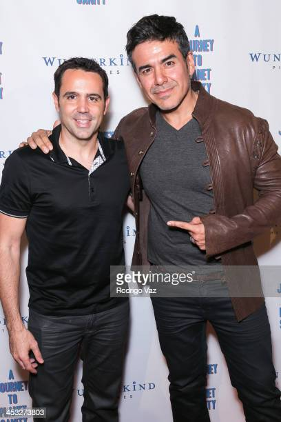 Director Blake Freeman and actor Jose Yenque attend 'A Journey To Planet Sanity' Los Angeles Premiere at Laemmle Monica 4Plex on December 2 2013 in...