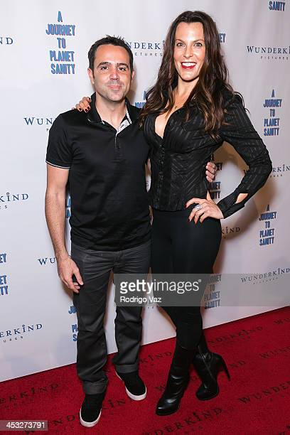 Director Blake Freeman and producer Danielle Crane attend 'A Journey To Planet Sanity' Los Angeles Premiere at Laemmle Monica 4Plex on December 2...