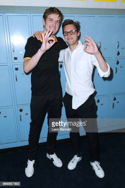 Director Bo Burnham and Producer Chris Storer attend the Screening Of A24's Eighth Grade Arrivals at Le Conte Middle School on July 11 2018 in Los...