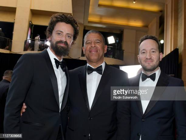 Director Bob Persichetti Director Peter Ramsey and Producer Rodney Rothman attend the 91st Annual Academy Awards at Hollywood and Highland on...
