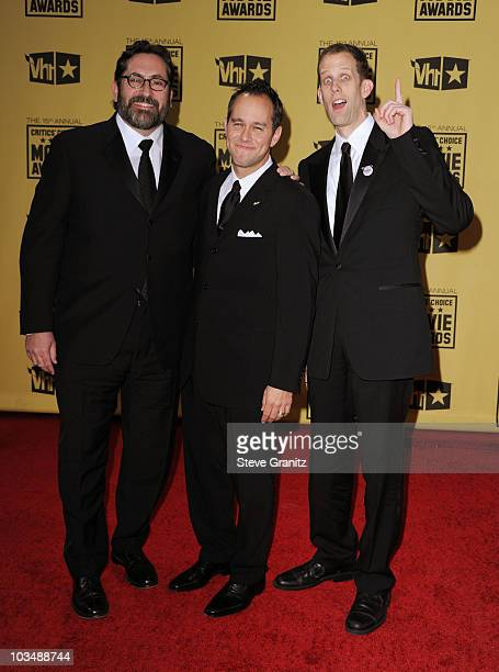 Director Bob Peterson producer Jonas Rivera and director Pete Docter arrive at the 15th annual Critics' Choice Movie Awards held at Hollywood...