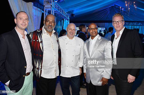 Director Bombay Gins Ned Duggan artist Daniel Simmons Jr chef Tom Colicchio Andre Guichard and VP Brand Managing Director of Bombay Peter Wijk attend...
