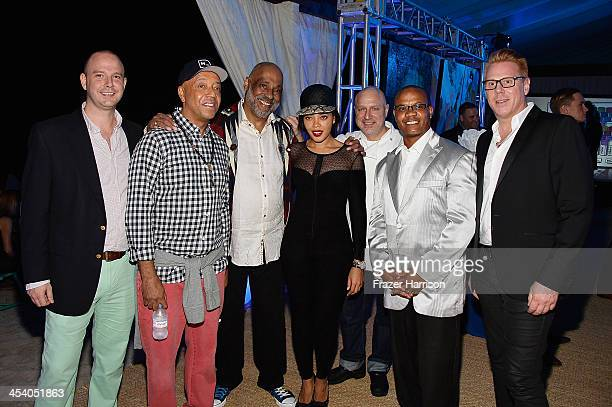 Director Bombay Gins Ned Duggan Russell Simmons Angela Simmons artist Daniel Simmons Jr chef Tom Colicchio Andre Guichard and VP Brand Managing...