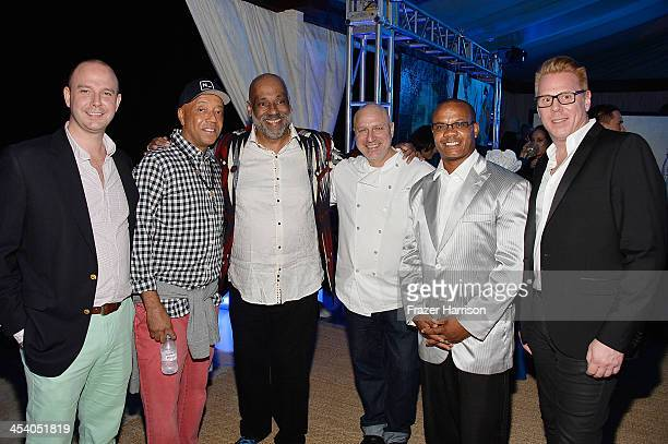 Director Bombay Gins Ned Duggan Russell Simmons artist Daniel Simmons Jr chef Tom Colicchio Andre Guichard and VP Brand Managing Director of Bombay...