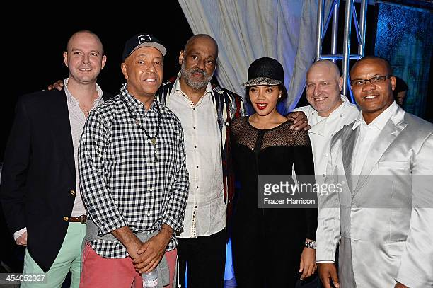 Director Bombay Gins Ned Duggan Russell Simmons artist Daniel Simmons Jr Angela Simmons chef Tom Colicchio and Andre Guichard attend the Bombay...