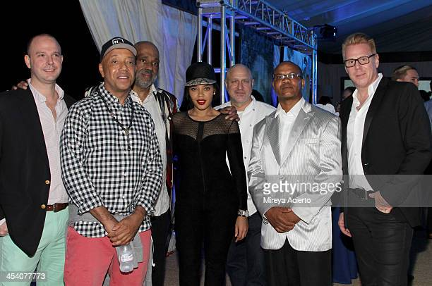 Director Bombay Gins Ned Duggan Russell Simmons artist Daniel Simmons Jr Angela Simmons chef Tom Colicchio Andre Guichard and VP Brand Managing...