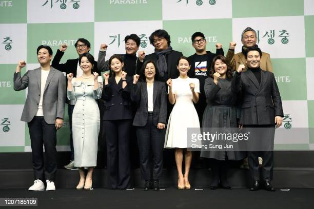 Director Bong Joonho actor Song Kangho Cho Yeojeong Lee Sunkyun Park SoDam Chang Hyejin Lee Jeongeun Park MyungHoon editor Yang Jinmo writer Han...