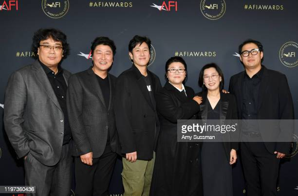 Director Bong Joonho actors KangHo Song Lee Sunkyun Lee Jungeun and writer Jin Won Han attend the 20th Annual AFI Awards at Four Seasons Hotel Los...