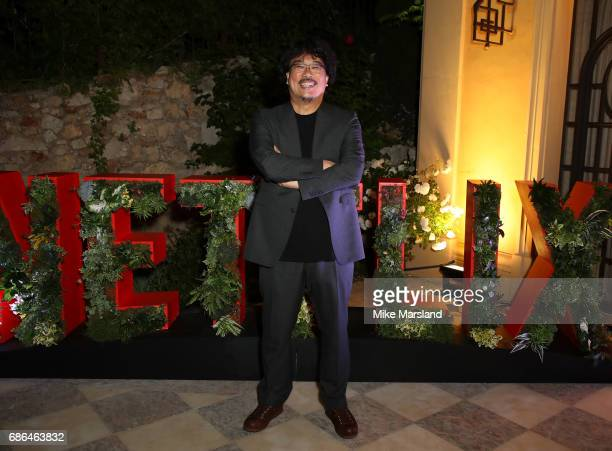 Director Bong JoonHo attends the Netflix party during the 70th annual Cannes Film Festival at on May 21 2017 in Cannes France