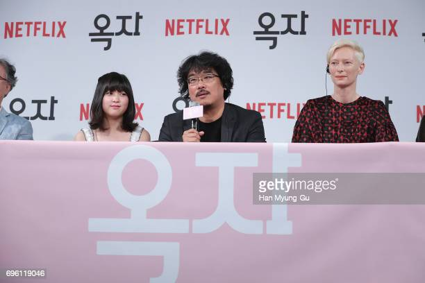 Director Bong JoonHo attends the 'Okja' press conference on June 14 2017 in Seoul South Korea