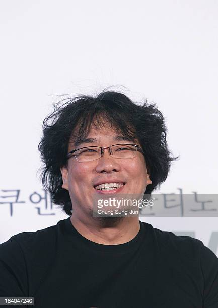 Director Bong JoonHo attends the Open Talk at the Busan Cinema Center Square Outdoor Stage during the 18th Busan International Film Festival on...
