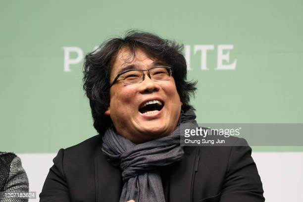 Director Bong Joon-ho attends the press conference on February 19, 2020 in Seoul, South Korea. 'Parasite' won the best picture category at the 92nd...