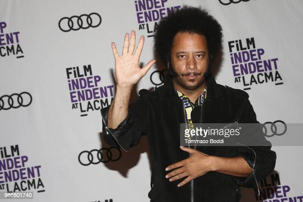 Director Boots Riley attends the Film Independent At LACMA Presents Screening And QA Of Sorry To Bother You at Bing Theater At LACMA on June 28 2018...