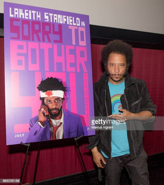 Director Boots Riley attends the special opening weekend QA at Regal Atlantic Station on July 6 2018 in Atlanta Georgia
