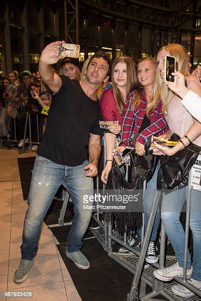 Director Bora Dagtekin attends the 'Fack ju Goehte 2' Cinema Tour at the Cinedom on September 12 2015 in Cologne Germany