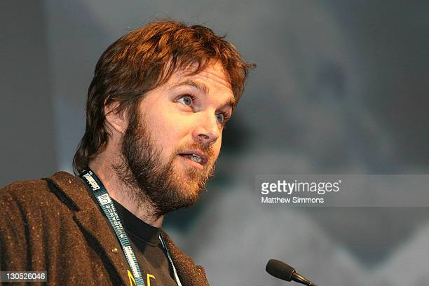 Director Brad Anderson speaks at the Transsiberian premiere during the 2008 Sundance Film Festival at the Eccles Theatre on January 18 2008 in Park...