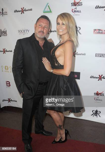 Director Brad Armstrong and actress Jessica Drake arrive for the 6th Urban X Awards held at Stars On Brand on August 20 2017 in Glendale California