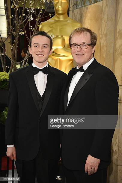 Director Brad Bird and son Nick arrive at the Oscars at Hollywood Highland Center on February 24 2013 in Hollywood California