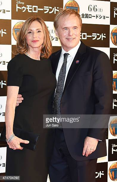 Director Brad Bird and wife Elizabeth Canney attend the Tokyo premiere of Tomorrowland at Roppongi Hills on May 25 2015 in Tokyo Japan