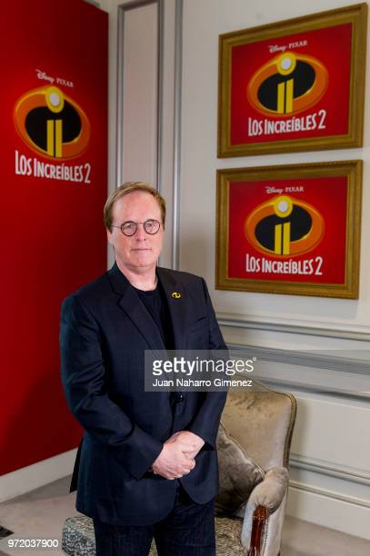 Director Brad Bird attends 'Los Increibles 2' photocall at Westin Palace Hotel on June 12 2018 in Madrid Spain