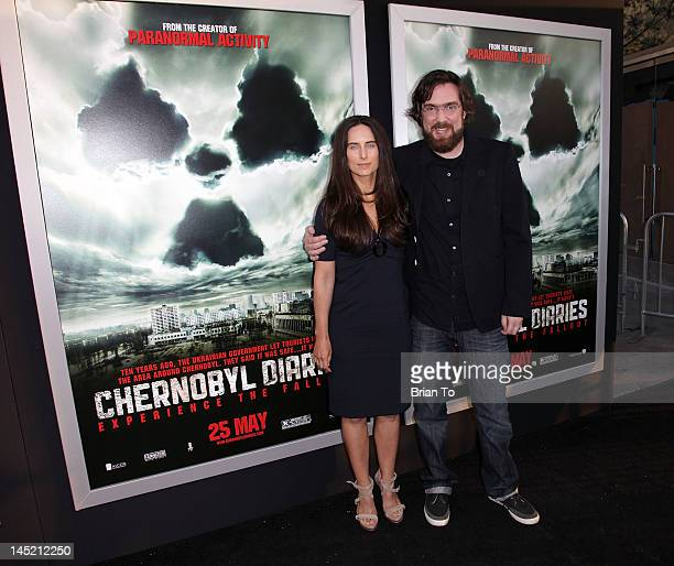 Director Brad Parker and wife Sam Dock attends the Los Angeles Premiere of 'Chernobyl Diaries' at ArcLight Cinemas Cinerama Dome on May 23 2012 in...