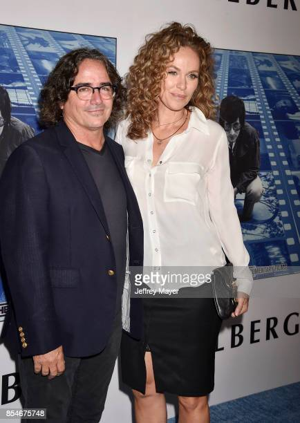 Director Brad Silberling and actress Amy Brenneman arrive at the Premiere Of HBO's 'Spielberg' at Paramount Studios on September 26 2017 in Hollywood...