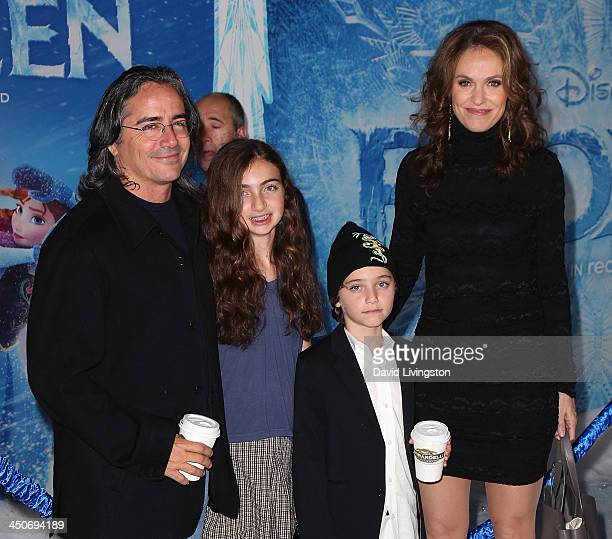 Director Brad Silberling wife actress Amy Brenneman and children attend the premiere of Walt Disney Animation Studios' 'Frozen' at the El Capitan...