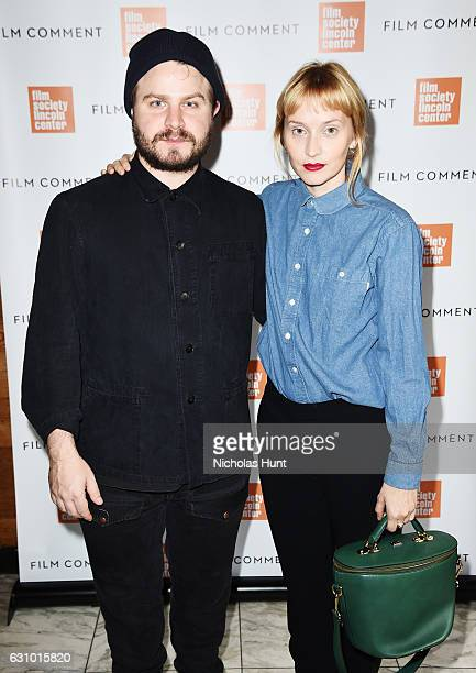 Director Brady Corbet and Mona Fastvold attends the 2016 Film Society Of Lincoln Center Film Comment Luncheon at Scarpetta on January 4 2017 in New...