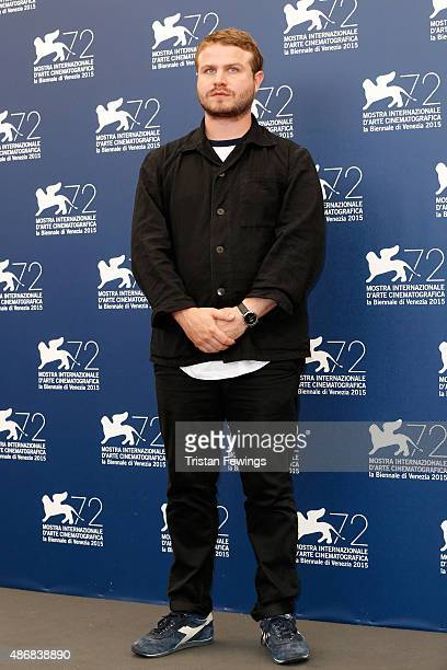 Director Brady Corbet attends a photocall for 'The Childhood Of A Leader' during the 72nd Venice Film Festival at Palazzo del Casino on September 5...