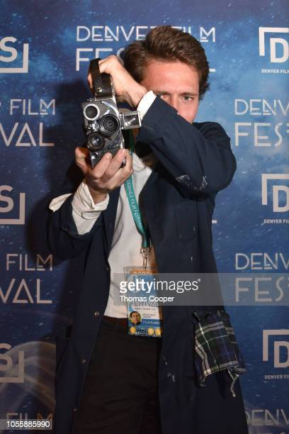 Director Branson Laszlo of the file Time Capsule on the red carpet for the 41st annual Denver Film Festival on October 31, 2018 in Denver, Colorado.