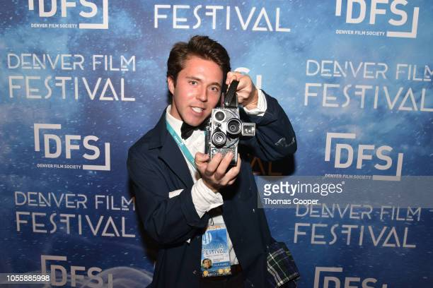 Director Branson Laszlo of the film Time Capsule on the red carpet for the 41st annual Denver Film Festival on October 31, 2018 in Denver, Colorado.