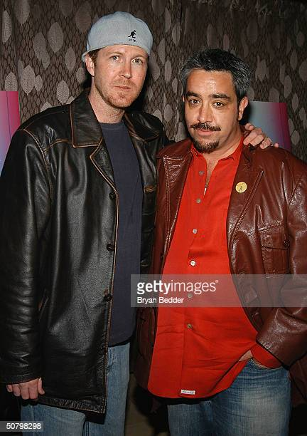 Director Brett C Leonard and Actor Stephen Adly Guigis arrive at the 'Jailbait' screening during the 2004 Tribeca Film Festival May 3 2004 in New...
