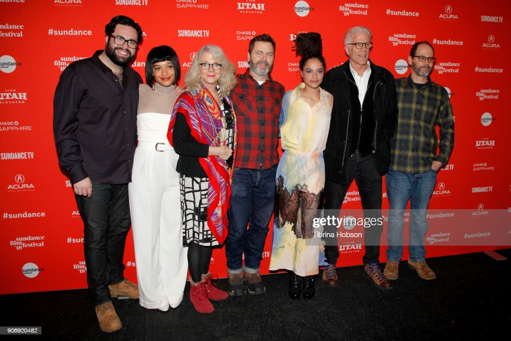 Director Brett Haley, Actors Kiersey Clemons, Nick Offerman, Sasha Lane, Ted Danson and Co-Writer Marc Basch attends the Volunteer Screening Of 'Hearts Beat Loud' Premiere during the 2018 Sundance Film Festival at Park City Library on January 18, 2018 in Park City, Utah.