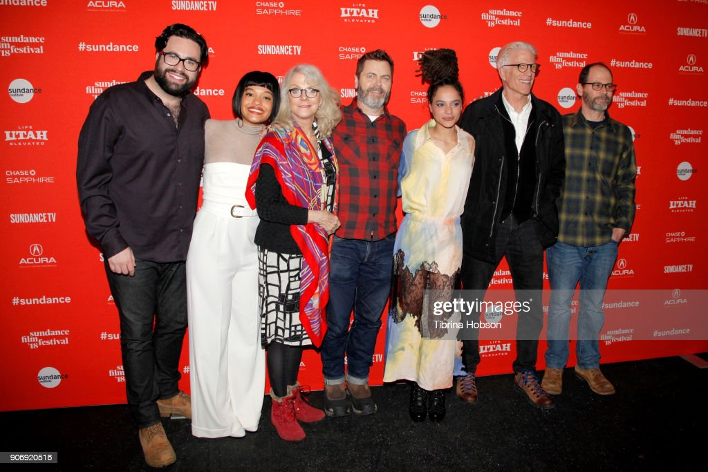 Director Brett Haley, Actors Kiersey Clemons, Nick Offerman, Sasha Lane, Ted Danson and Co-Writer Marc Basch attend the Volunteer Screening Of 'Hearts Beat Loud' Premiere during the 2018 Sundance Film Festival at Park City Library on January 18, 2018 in Park City, Utah.