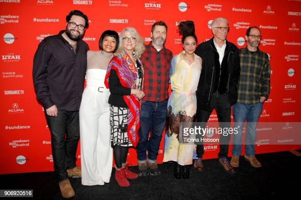 Director Brett Haley Actors Kiersey Clemons Nick Offerman Sasha Lane Ted Danson and CoWriter Marc Basch attend the Volunteer Screening Of 'Hearts...