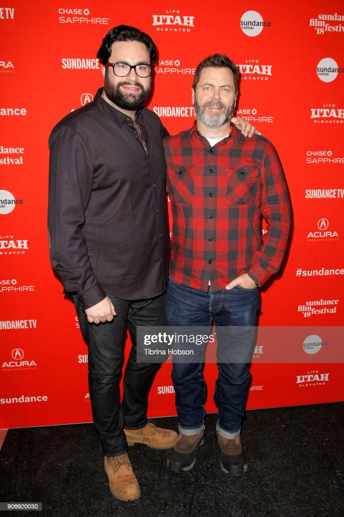 Director Brett Haley and Actor Nick Offerman attend the Volunteer Screening Of 'Hearts Beat Loud' Premiere during the 2018 Sundance Film Festival at Park City Library on January 18, 2018 in Park City, Utah.