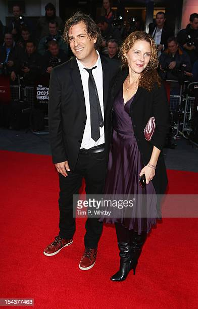 Director Brett Morgen and guest attend the Premiere of 'Crossfire Hurricane' during the 56th BFI London Film Festival at Odeon Leicester Square on...