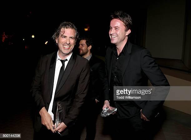 Director Brett Morgen and Stevan Riley attend the 2015 IDA Awards at Paramount Studios on December 5 2015 in Hollywood California
